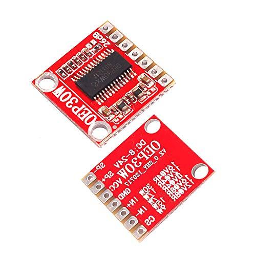 Ximimark 2Pcs D Class OEP30Wx2 Module Mono Digital Power Amplifier Board DC 7.5-24V 36dB Mini Amp Module Replace TDA8932