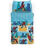 Caleffi Copriletto Trapuntato Leggero Art. Spiderman America - Celeste, 1 Piazza
