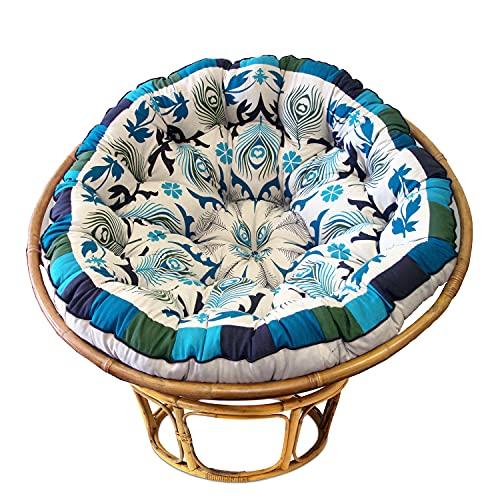 COTTON CRAFT Papasan - Polly Peacock - Blue - Overstuffed Chair...