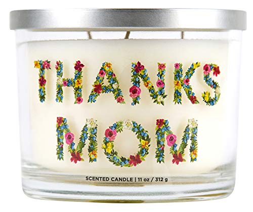 Aromascape 'Thanks Mom' 3-Wick Scented Candle (Peach, Raspberry and White Lily), 11-Ounce