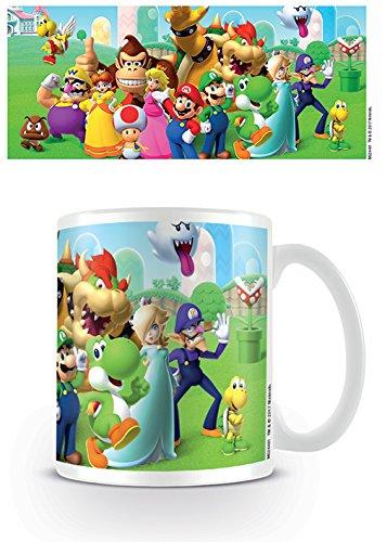 Nintendo Super Mario Mushroom Kingdom Ceramic Mug Kaffeetassen, Keramik, Mehrfarbig, 7.9 x 11 x 9.3 cm