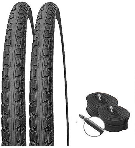 Juego de 2 neumáticos Continental Ride Tour negro 27,5 x 2,10/54 – 584 + válvula de bicicleta de carreras.