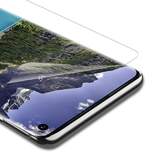 RIIMUHIR 3 Stücke Panzerglas Schutzfolie für Samsung Galaxy S10, Displayschutzfolie für Samsung Galaxy S10, Anti-Fingerabdruck, 9H Härte, Anti-Bläschen, HD Klar Panzerglasfolie - TPU