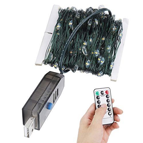 Cerlingwee Luces de Cadena controladas por USB, Luces Que cambian de Color, Luces de Cadena, luz Decorativa de Alambre de Cobre, decoración navideña del hogar de la habitación de