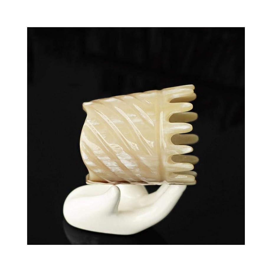巨大なユダヤ人闘争CAFUTY 頭皮のマッサージの櫛のための自然な木のヤク角の櫛静的なハンドメイドの櫛 (色 : A)