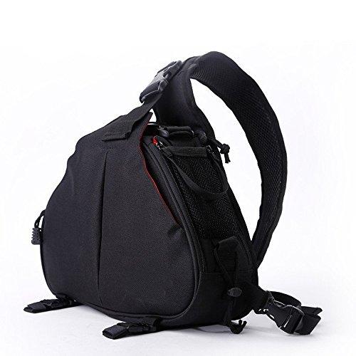 AnTeck  Zaino Custodia per DSLR Camera DSLR Casual Camera Bag e accessori per Canon Nikon nero
