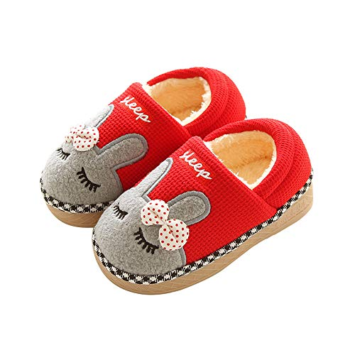 YOUBUY Toddler Little Kids Winter Warm Lined House Slippers Boys Girls Comfy Indoor Shoes