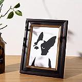Xqsb Marco para Fotos Marco Formato de Imagen Resina Negra 25.3 × 30.3cm de Doble Uso