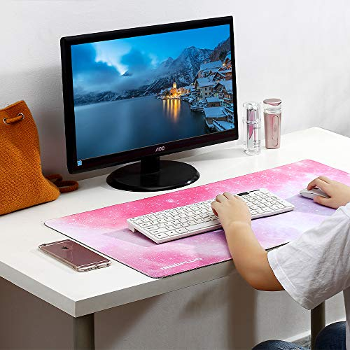 Gaming Mouse Pad, Large Mouse Pad XL Pink, Mouse Pads for Computers 31.5×15.75In, Large Extended Gaming Keyboard Mouse Pads, Big Desk Mouse Mat Designed for Gaming Surface/Office, Durable Edges Photo #7