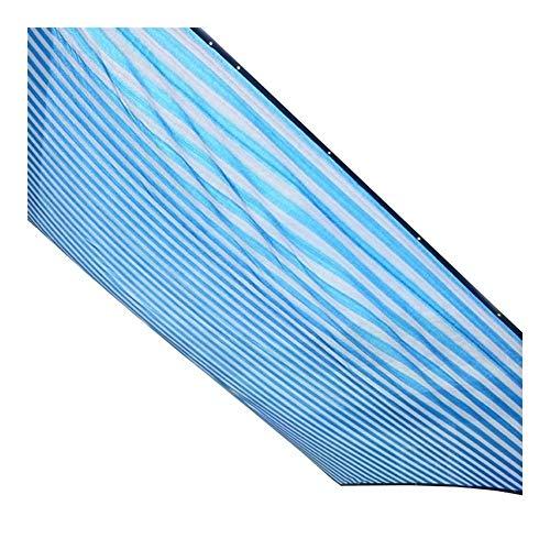 WangczType dekzeil zonwering doek UV-beschermingsnet schaduwnet tuinbloemen en planten - blauwe strepen