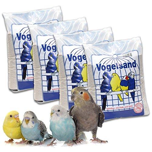 10 kg Vogelsand Naturweiss mit Kalk u. Anis (4 x 2,5 kg) hygienisch + keimfrei in Bester Qualität