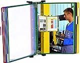 Tarifold Es 414109 - Expositor de pared A4 para catálogos con 10 fundas PVC, colores surtidos