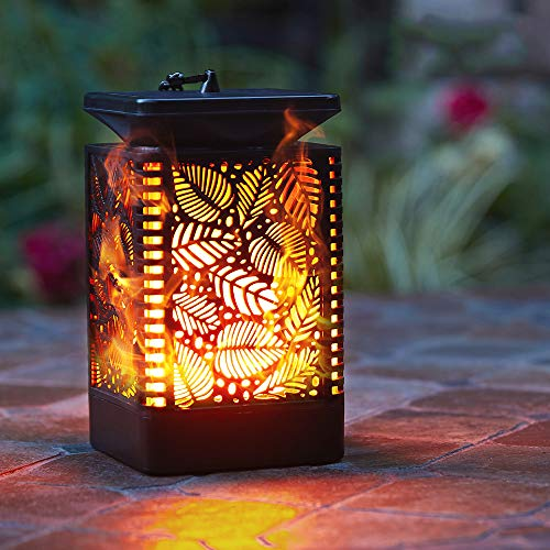 Walensee Solar Lantern Lights (2 Pack) Dancing Flame Waterproof Outdoor Hanging Lanterns Solar Powered Umbrella LED Night Light Dusk to Dawn Auto On/Off Landscape Decorative for Garden Patio Yard Path