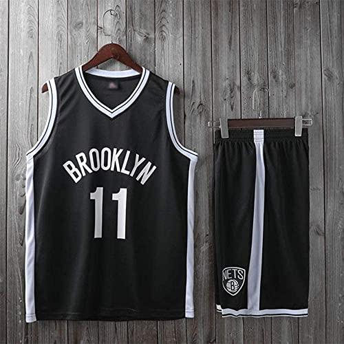 Ropa Uniformes de baloncesto para niños, Brooklyn Nets # 11 Kyrie Irving Nba Fan Jersey Trajes sin mangas Camisetas de manga corta Camisas deportivas Chalecos deportivos, negro, 2xl (adulto) 170 ~ 175