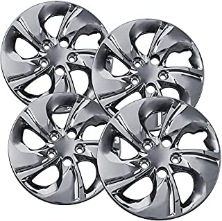 Motorup America Auto Hubcap Set of 4, 15 inch Snap On Wheel Covers - Fits 12-14 Honda Civic