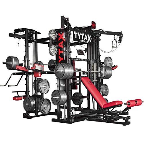 Tytax® T3-X, la migliore attrezzatura per la palestra in casa, sistema completo, free weight, cavo multi stazione universale, sollevamento pesi, allenamento, Smith machine