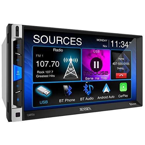 Jensen CAR70V - Receptor Digital Compatible con Android Auto y Apple CarPlay 7'