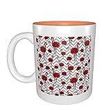 Rosas rojas flamencos mejor idea regalo de cumpleaños para tazas de porcelana