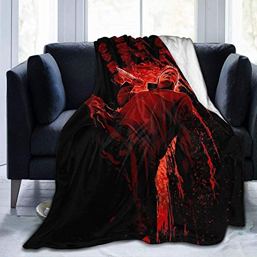 maichengxuan Michael-Myers-Halloween-Horror-Movie Blanket Flannel Suitable for Sofa,Bedding Comfortable Warm Throw Available in All Seasons 80'X60' for Audlt