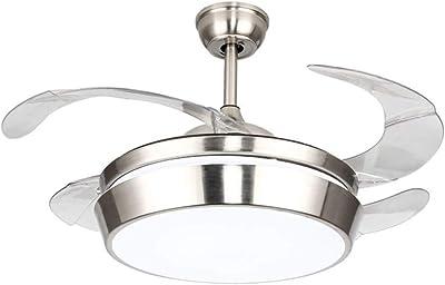 YLCJ Ventiladores de techo con lámpara Ventilador Araña Salón ...