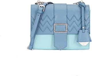 FengheYQ New Crossbody Casual Fashion Tote One Shoulder Slung Small Tote Bag Wallet Size:18 * 7 * 13cm (Color : Blue)