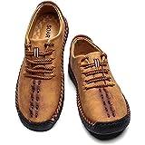 SOARHOPE メンズ くつ カジュアルしゅーず メンズ 革靴 カジュアルシューズ めんすシューズ かじゅあるシューズ メンズシューズ レースアップシューズ おしゃれ 軽量 超快適 イエロー 25.5cm