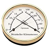 Barigo Weinkeller Klimamesser Ø 10cm, Material:Messing. poliert -