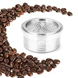 Umiwe Coffee Pods Reusable for LAVAZZA Espresso Point Stainless Steel Capsules Refillable Compatible for Espresso Point Machines with 1 Brush 1 Spoon