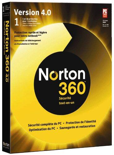 Norton 360 version 4.0 + 2 go d'espace en ligne (1 poste/ 1 an)