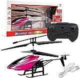 APcjerp Mini helicóptero teledirigido Boy Anti-caída Juguete de diseño suspendido Infrarrojos inducción Drone Vuelo del Juguete Adecuado for niños y Adultos 20X10x4cm Hslywan (Color : Pink)