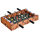"""Goplus Mini Foosball Table, 20"""" Portable Tabletop Soccer Game w/Score Keepers and 2 Balls, Easy Assembly, Football Table for Family Night, Parties, Game Rooms, Bars"""