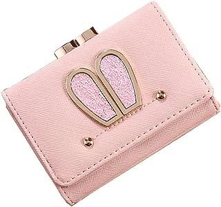 MOCA' Cute Elegant Womens Wallet Small Clutch Wallet Hand purse For Womens Women's Girls Ladies Mini Wallet Clutch Purse 3 Folds Buckle Money Package Card Holder Wallet for Women