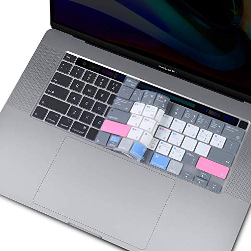 LEZE - Ultra Thin Mac OS Shortcut Keyboard Cover Compatible with MacBook Pro 16 (Model: A2141, 2019+) & MacBook Pro 13 with Magic Keyboard (Model Number: A2251/A2289, 2020+) US Layout