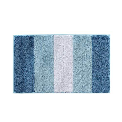 Best Prices! CarPet Floor mats into The Door Bathroom Absorbent Non-Slip (Color : Blue)