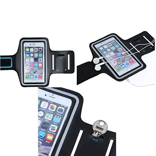 andyhandyshop Sport Armband für Handy Leagoo Z7 Hülle Case Joggen Fitness Tasche