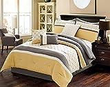 Riverbrook Home Elite Collection Comforter Set, King, Verdugo - Yellow/Grey 7 Piece