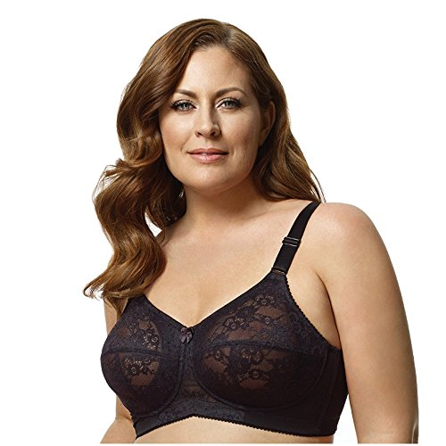 Elila Women's Lace Soft-Cup Bra 1303 52E Black