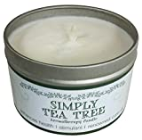 Our Own Candle Company Soy Wax Aromatherapy Candle, Simply Tea Tree, 6.5 Ounce