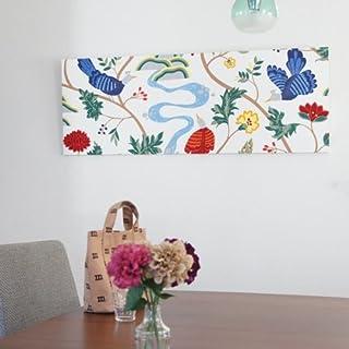 ファブリックアートパネル ボラスコットン/boras cotton BIRDLAND/WHITE 1360×500mm