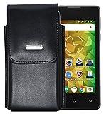 Vertikal Etui für / MEDION LIFE E4005 (MD 99253) / Köcher Tasche Hülle Ledertasche Vertical Hülle Handytasche mit einer Gürtelschlaufe auf der Rückseite