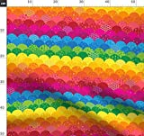 Regenbogen, Schuppen, Bogenkante, Geometrisch, Abstrakt,