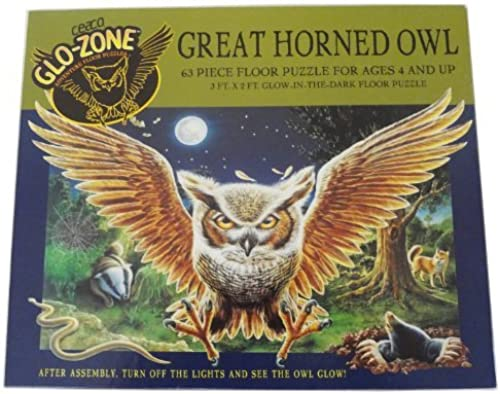 Great Horned Owl Floor Puzzle by Glo-Zone Adventure Floor Puzzles