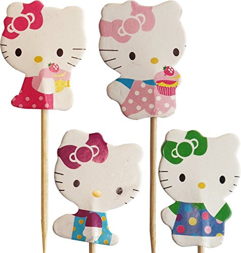Hello Kitty-Kuchen-Toppers (Packung mit 24)