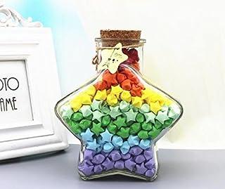 折り紙ガラス小瓶 星型千羽鶴 DIY ドリフトボトル (ボトル)
