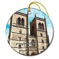 サンフルールフランス大聖堂サンピエールクリスマスオーナメントセラミックシート旅行お土産ギフト