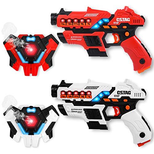 Laser Tag Set con Spray, Laser Tag Game Gilet Set per bambini con 2 modalità multi-arma Pistola giocattolo per ragazzi e ragazze all\'interno e all\'esterno, nonché attività di gruppo familiare