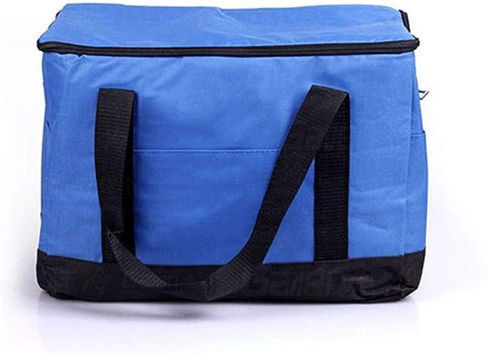 Glacière de Camping Sac de Rangement fourre-Tout fourre-Tout Pique-Nique Isotherme isolé Portable (Couleur   Bleu, Taille   45  23  30cm)