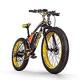 RICH BIT Vélo de Montagne électrique RT022 1000W 26 Pouces E-Bike 48V * 17Ah Li-Batterie Gros Pneu Hommes vélo vélo de Plage (Jaune)