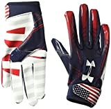Under Armour Boy's F6 LE Football Gloves, Midnight Navy (410)/White, Youth Large