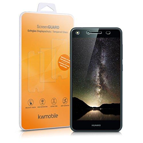 kwmobile Folie kompatibel mit Huawei Y6 II Compact (2016) - Glas Handy Schutzfolie - Full Screen Display Schutz